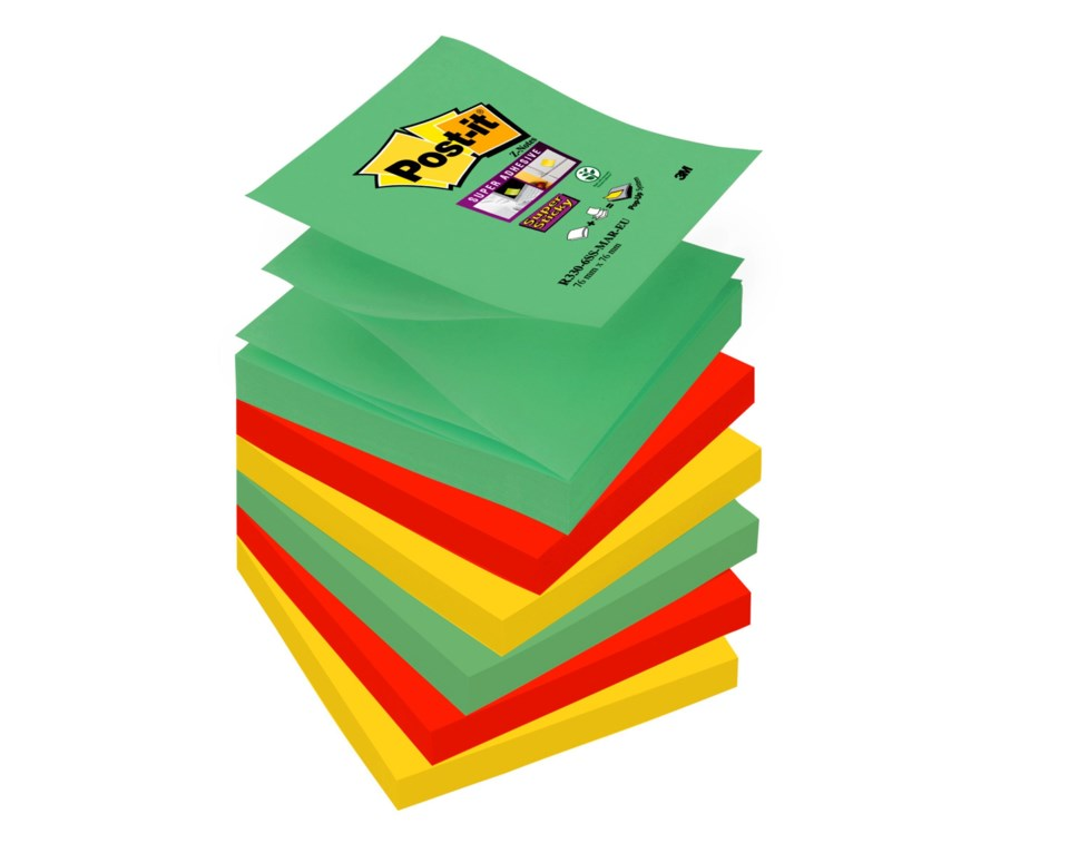 Notisar Post-it Super Sticky Z-block Marrakesh 76x76mm 10110228