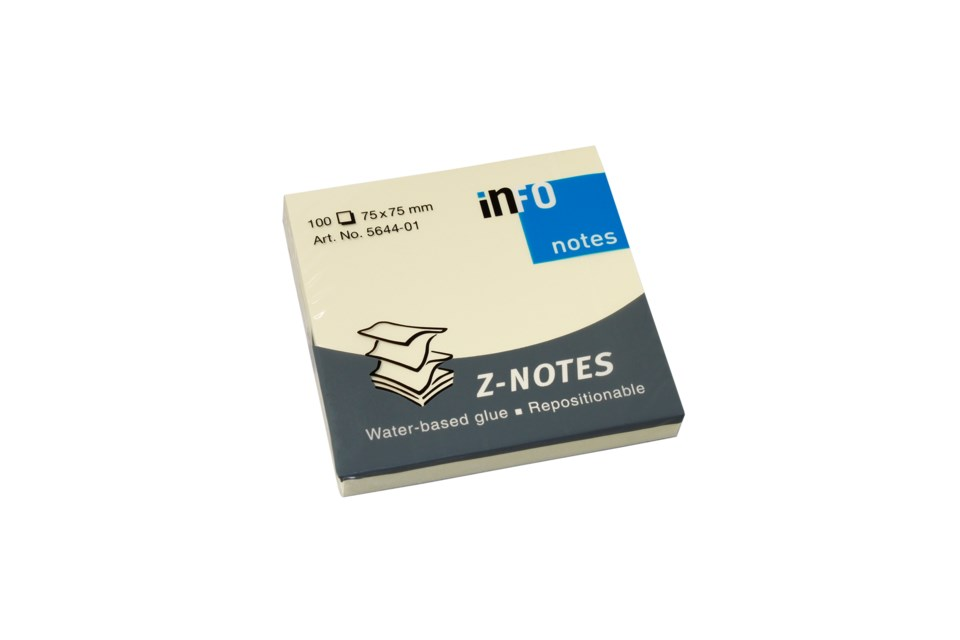 Notisar Info Notes Z-block gul 75x75mm 10110235_2