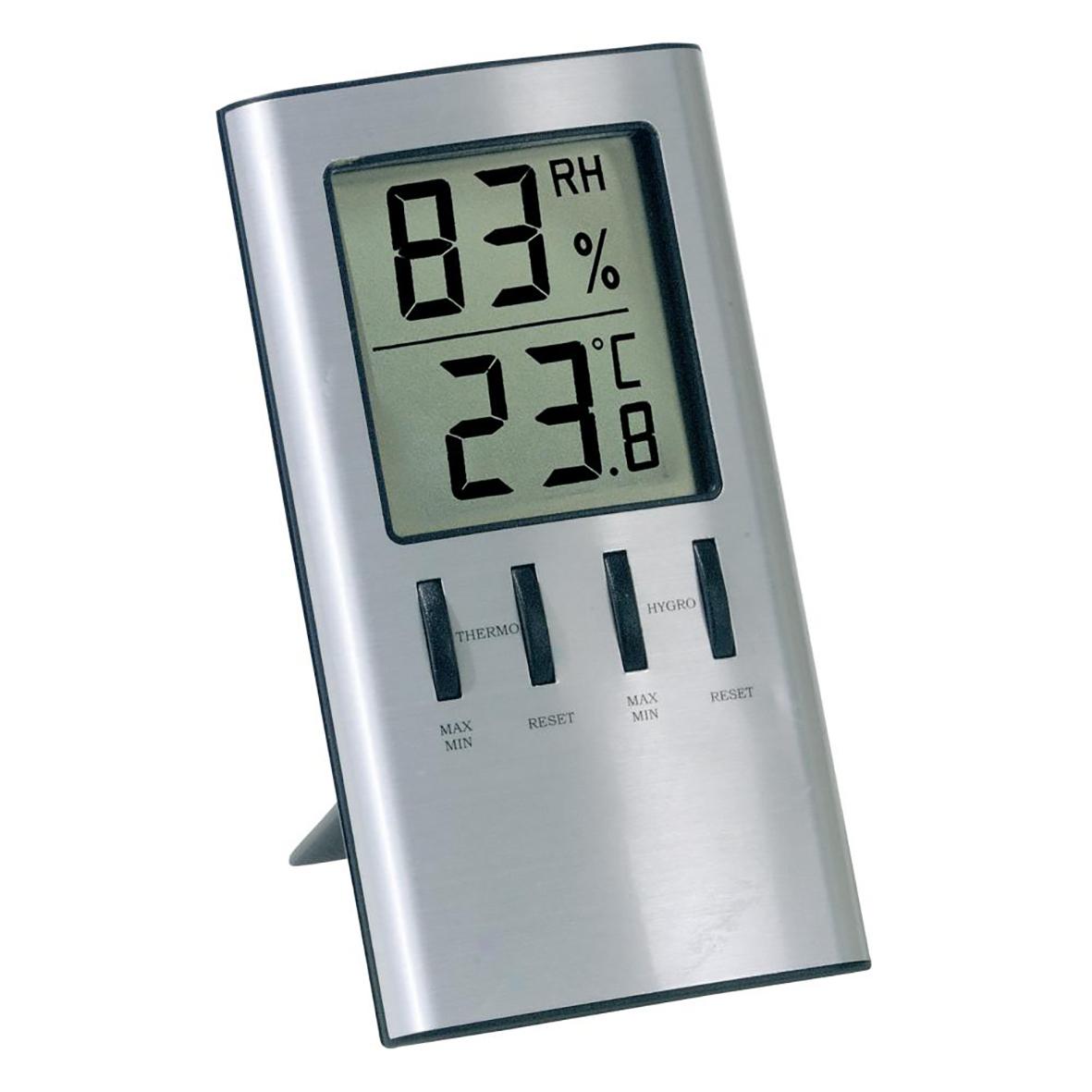 Digital innetermometer Viking innehygro silver 100x65mm