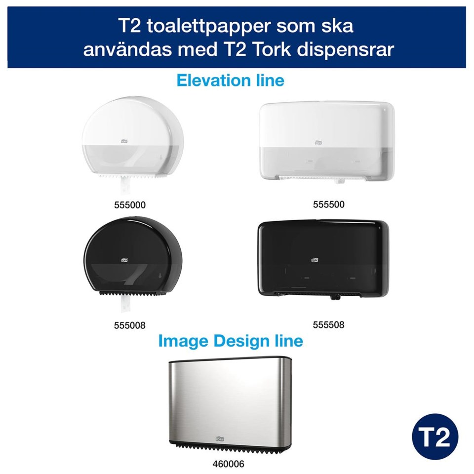 Toalettpapper Tork T2 advanced 2lg mini jumbo vit 170m 50030016_3