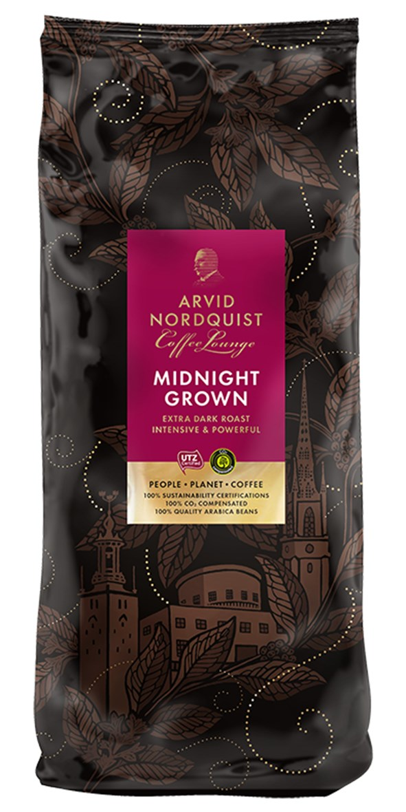 Kaffe Arvid Nordquist Midnight Grown hela bönor 1000g 60100053