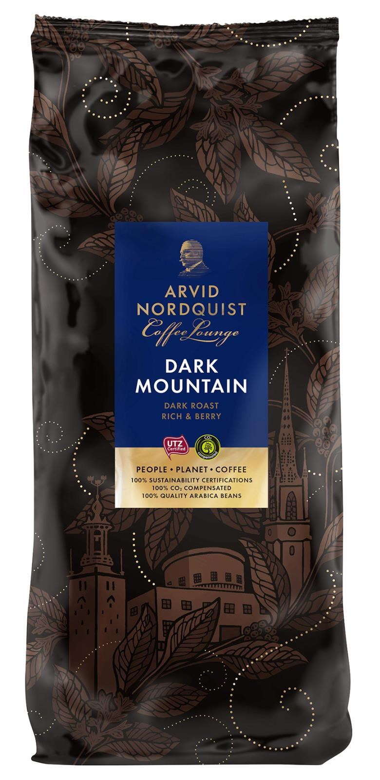 Kaffe Arvid Nordquist Dark Mountain hela bönor 1000g 60100223