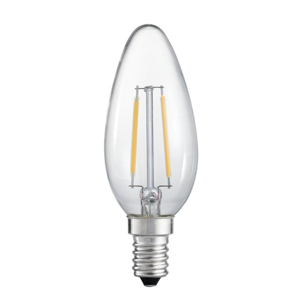 LED lampa GE E14 Kron Klar ej dimbar