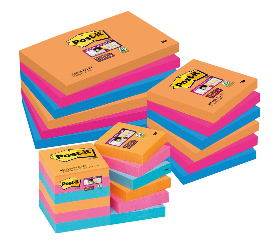 Notisar Post-it Super Sticky Bangkok 76x76mm 10110216_2